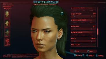 """Cyberpunk 2077 """"Более чистые и качественные детали кожи"""""""
