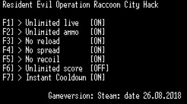 Resident Evil: Operation Raccoon City: Трейнер/Trainer (+7) [Steam] {LIRW / GHL} - Updated: 27.08.2018