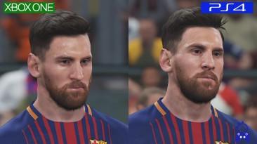 Pro Evolution Soccer 2018 PES | PS4 VS ONE | Сравнение графики