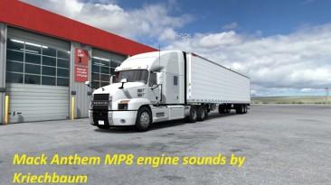 "American Truck Simulator ""Mack Anthem MP8 Engine Sound ATS 1.37.x"""