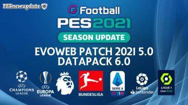 """PES 2021 """"EvoWeb Патч 5.0 Фикс групп ЕВРО 2020"""""""