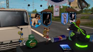 """Euro Truck Simulator 2 """"Вымпелы Jill Valentine из Resident Evil"""""""