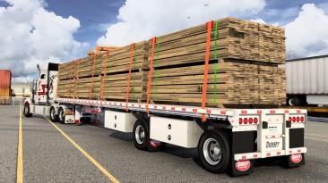 "American Truck Simulator ""Прицеп Dorsey Aluminum Giant Flatbed в собственность (1.40.x)"""