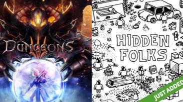 Dungeons 3 и Hidden Folks за октябрьскую подписку Humble Bundle