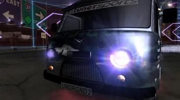 """УАЗ 3741 (""""Буханка"""" в новой раскраске) в Need for Speed: Underground 2, гонка спринт."""