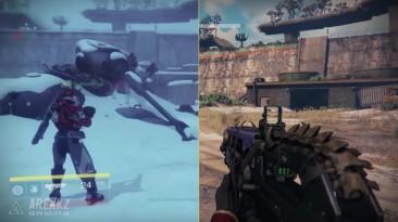 Сравнение космодрома из оригинальной Destiny и DLC Rise of Iron
