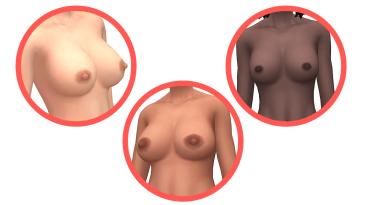 "The Sims 4 ""Реалистичный мод на грудь для Ж"""