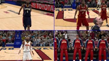 "NBA 2K10 ""Cleveland Cavaliers 2010-2011 jerseys"""