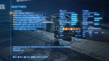 Ace Combat 7: Skies Unknown ''Мод открывающий все части улучшений самолетов''