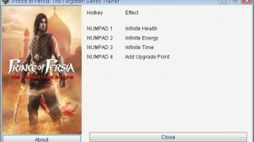 Prince of Persia - The Forgotten Sands: Трейнер/Trainer (+4) [1.0] {GRIZZLY/PlayGround.ru}