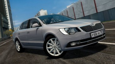 "City Car Driving ""Skoda Superb 2014 (v1.5.9 - 1.5.9.2)"""