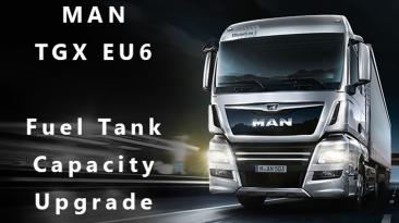 "Euro Truck Simulator 2 ""Реалистичный расход топлива MAN TGX EU6 v1.4 (1.41.x)"""