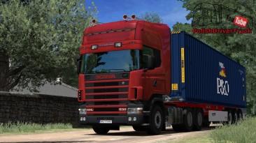 """Euro Truck Simulator 2 """"Scania 146l V8 Переработанный Звук v1.0 (1.41.x)"""""""