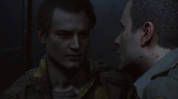 Resident Evil 2 Remake - Страстный поцелуй Леона и шерифа