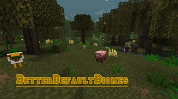 "Minecraft ""Мод Better Default Biomes [1.16.5]"""