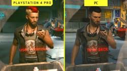 Сравнительное видео Cyberpunk 2077 между ранней графикой ПК и PS4 Pro