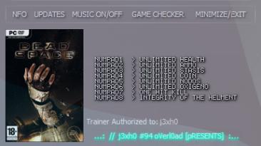 Dead Space: Трейнер/Trainer (+8) [1.0] {CheatNova}