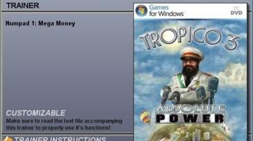 Tropico 3 - Absolute Power: Трейнер (Бесконечные деньги) [2.00.467] {CheatHappens}