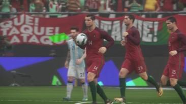 Эксперимент в PES 2018: Команда Месси против Команды Роналдо
