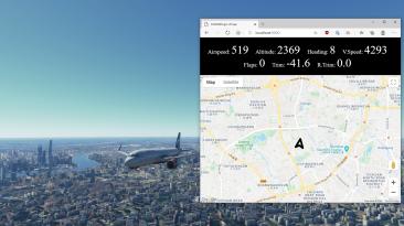 """Microsoft Flight Simulator """"Улучшенная навигационная карта"""""""