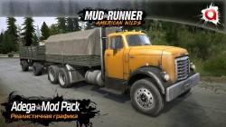 "Spintires: MudRunner ""Реалистичная графика Adega Мод Pack v3.7 Fin+Sp"""