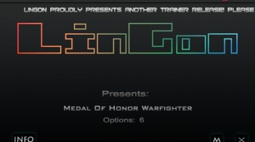Medal of Honor - Warfighter: Трейнер/Trainer (+6) [1.0.0.2] {LinGon}