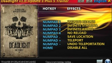 Deadlight: Трейнер/Trainer (+5) [1.0 & Update 1] {FLiNG}