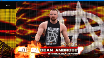 "WWE 2K16 ""Наряд рестлера Jon Moxley - Return to Society из WWE 2K19 с анимированным лицом"""