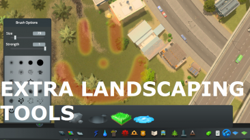 "Cities: Skylines ""Extra Landscaping Tools update18"""