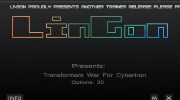 Transformers - War for Cybertron: Трейнер (+20) [1.0 & DLC] {LinGon}