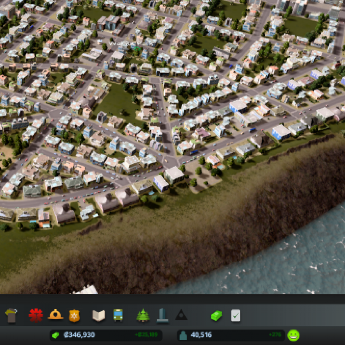 """Cities: Skylines """"City Vitals Watch - Отображает статистику города в  отдельном окне"""""""