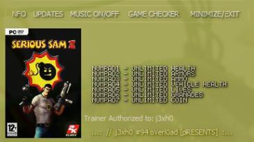 Serious Sam 2: Трейнер (+7) [2.070] {CheatNova}