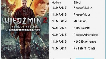 The Witcher 2 - Assassins of Kings Enhanced Edition: Трейнер/Trainer (+7) [3.0: Steam/Fixed] {mgr.inz.Player}