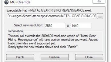 "Metal Gear Rising: Revengeance ""MGROverride 1.1"""