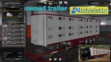 """Euro Truck Simulator 2 """"Скотовоз Michieletto в собственность v1.0.6"""""""