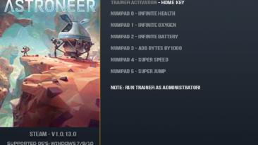 Astroneer: Трейнер/Trainer (+6) [1.0.13.0] {LinGon}
