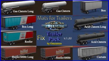 "American Truck Simulator ""Fix Mats for Trailers v.1.30"""