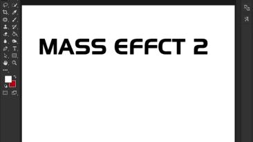 "Mass Effect 2 ""Шрифт для фотошопа"""