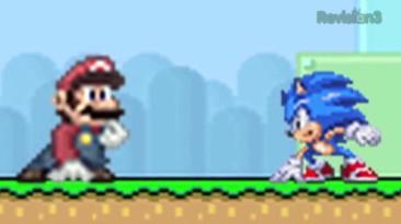 Марио VS Соник - Бой насмерть!