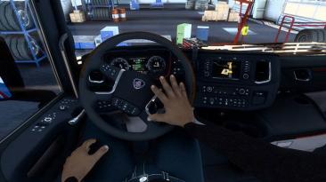 """Euro Truck Simulator 2 """"Анимированные руки v1.10 (1.40.x)"""""""