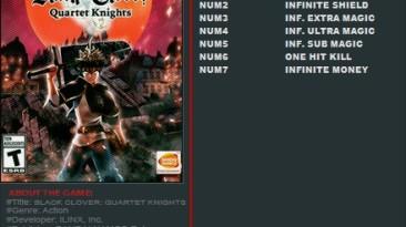 Black Clover: Quartet Knights: Трейнер/Trainer (+7) [1.01] {FutureX}