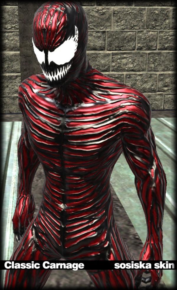 "Spider-Man: Web of Shadows ""Classic Carnage Sosiska Skin"""