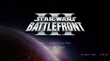 Пре-альфа фанатского ремейка Star Wars Battlefront III с Дартом Вейдером, перестрелками и шагоходами