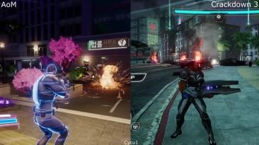 Agents of Mayhem vs Crackdown 3 Xbox One - Сравнение Геймплея (Cycu1)