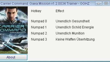 Carrier Command - Gaea Mission: Трейнер/Trainer (+4) [1.2.0034] {Chris/GGHZ}