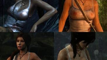 """Tomb Raider """"Три варианта прозрачности маек"""""""