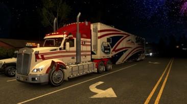 """American Truck Simulator """"Мод Звездные Ночи (Ночная Вселенная) ATS 1.37.x"""""""