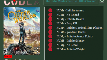 The Outer Worlds: Трейнер/Trainer (+10) [1.1.1.0] {CODEX}