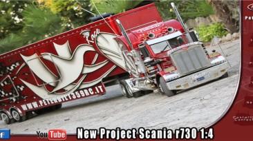 Уменьшенная копия модели Американского грузовика: Peterbilt 359 RC с Супер Аудио Трейлером.