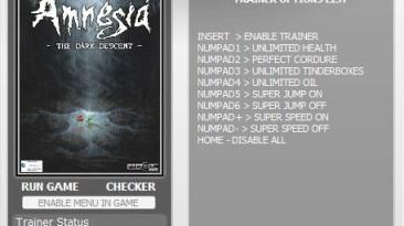 Amnesia - The Dark Descent: Трейнер (+6) [1.2] {h4x0r}